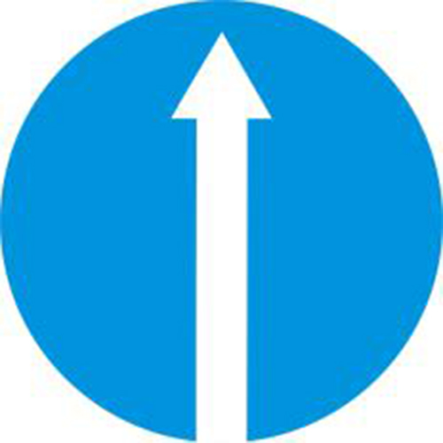 Biển báo hiệu các xe chỉ được đi thẳng