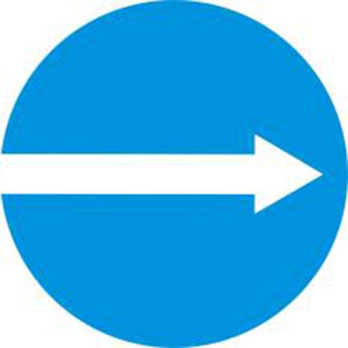 Biển báo hiệu các xe chỉ được rẽ phải