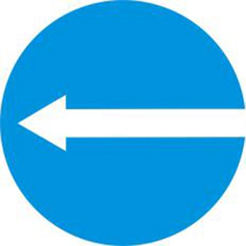 Biển báo hiệu các xe chỉ được rẽ trái