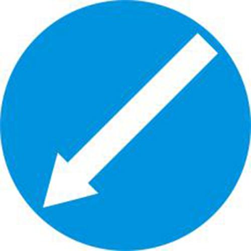 Biển báo hiệu hướng phải đi vòng chướng ngại vật sang trái