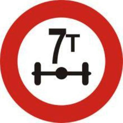 Biển báo hạn chế trọng lượng trên trục xe