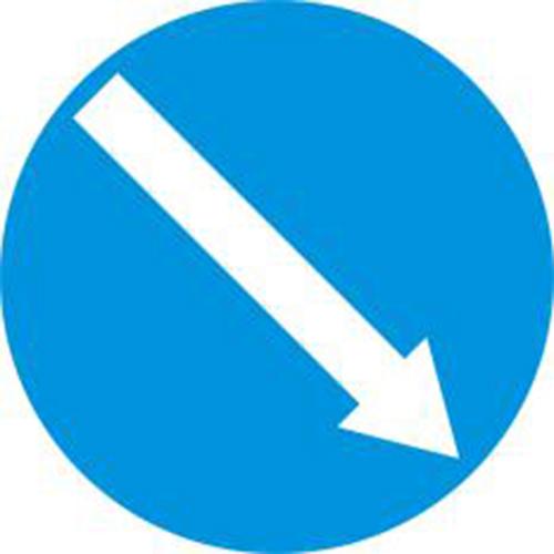 Biển báo hiệu hướng phải đi vòng chướng ngại vật