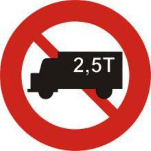 Biển báo cấm ô tô tải có trọng lượng vượt quá quy định