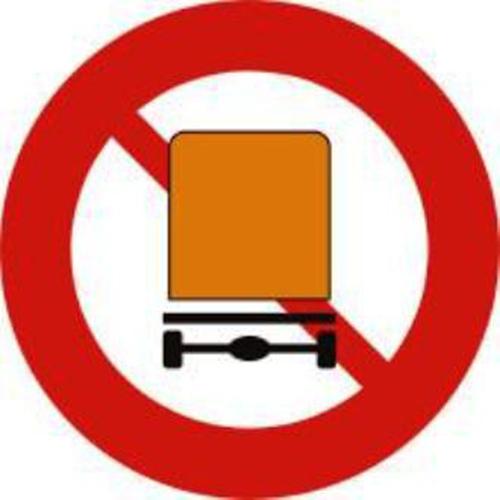 Biển báo cấm xe chở hàng nguy hiểm