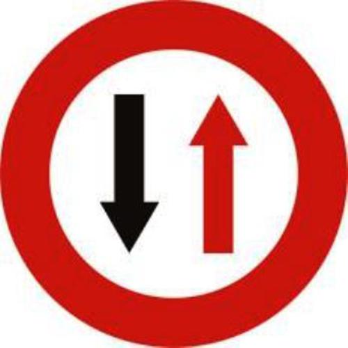 Biển báo nhường đường cho xe cơ giới đi ngược chiều qua đường hẹp