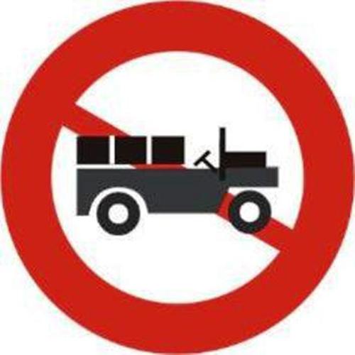 Biển báo cấm xe công nông