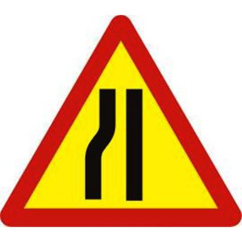 Biển báo hiệu nguy Hiểm đường bị hẹp bên trái