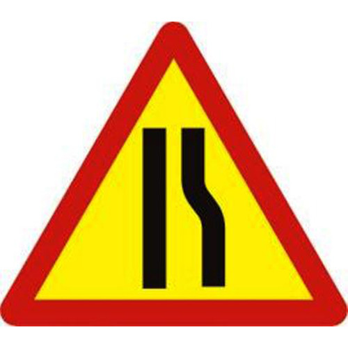 Biển báo hiệu nguy hiểm đường bị hẹp bên phải