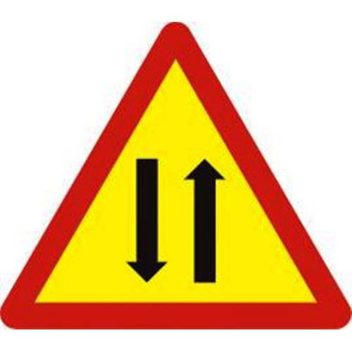 Biển báo hiệu nguy hiểm đường hai chiều