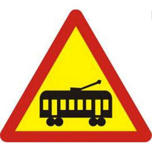 Biển báo giao nhau với đường tàu điện (W.211b)