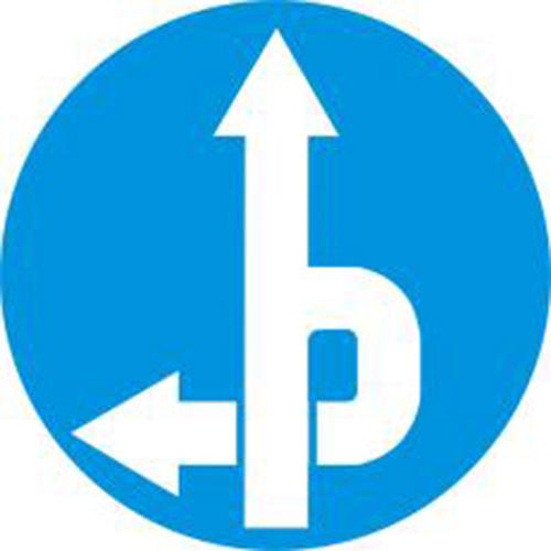 Biển báo tuyến đường cầu vượt cắt qua