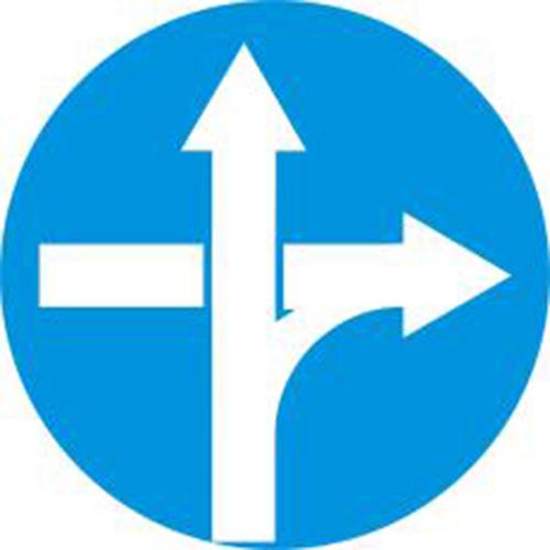 Biển báo tuyến đường cầu vượt cắt ngang