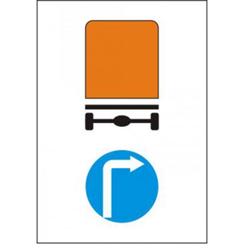 Biển báo hướng đi phải cho các xe chở hàng nguy hiểm