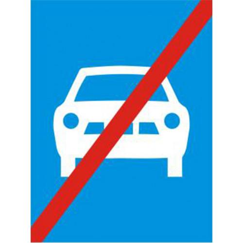 Biển báo hết đường dành cho ô tô