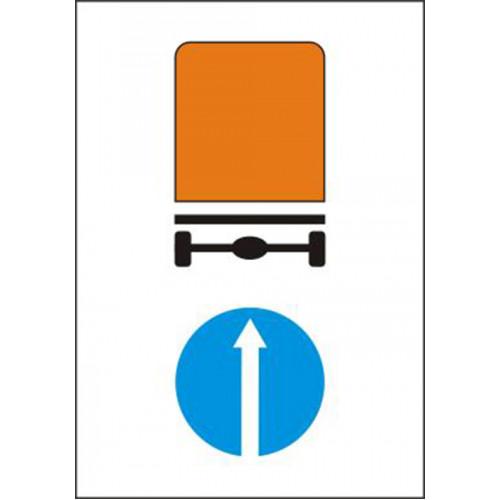 Biển báo hướng đi thẳng cho các xe chở hàng nguy hiểm