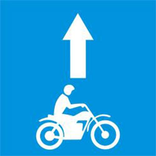 Biển báo làn đường dành riêng cho môtô