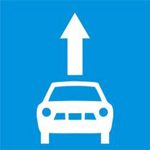 Biển báo làn đường dành riêng cho xe ôtô con
