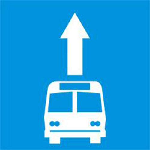 Biển báo làn đường dành riêng cho ôtô khách