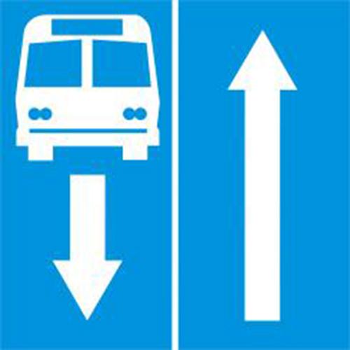 Biển báo đường có làn đường dành cho ôtô khách